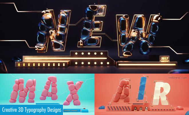 Creative and Gleaming 3D Typography Designs of Jose Checa