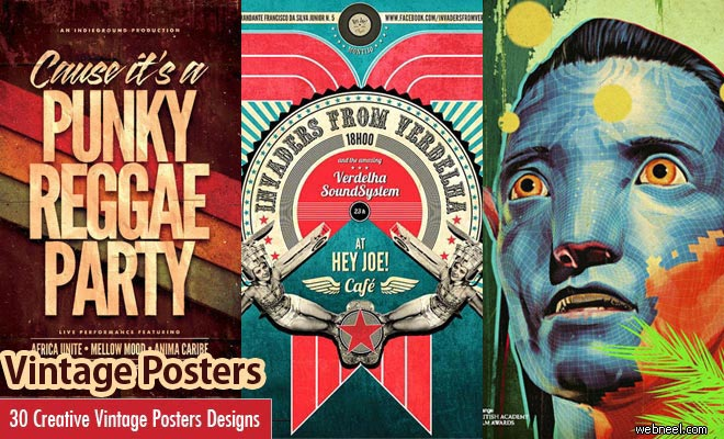 30 Creative Vintage Posters Design examples from around the world - part 2