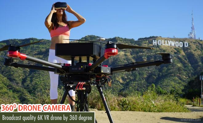 Worlds first broadcast quality 6K VR Drone camera by 360 designs