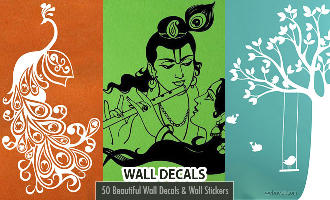 50 Beautiful Designs of Wall Decals and Wall Stickers for your home