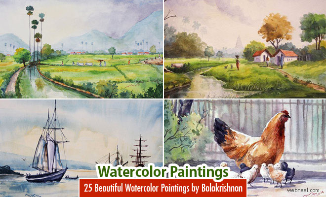 25 Beautiful Watercolor Paintings by Tanjore artist Subbaiyan Balakrishnan