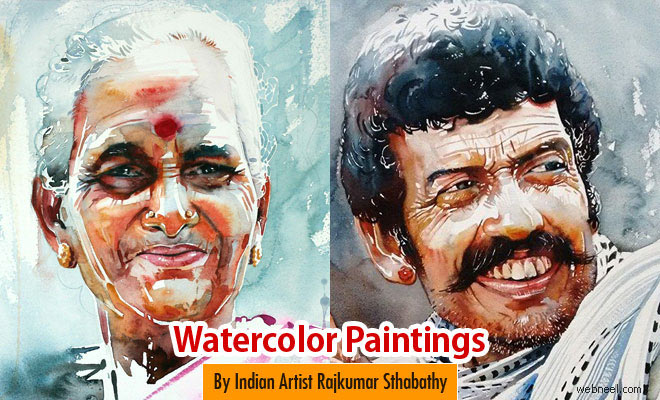 30 stunning watercolor paintings by pondicherry artist rajkumar sthabathy