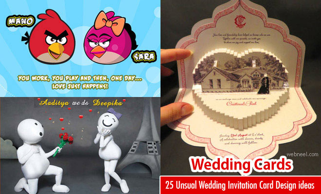 15 Modern and Unique Wedding Card Design Ideas