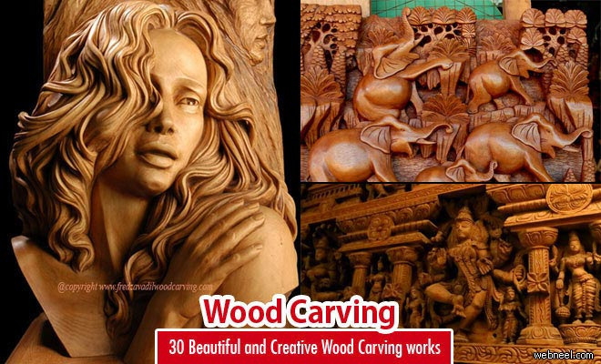 30 Beautiful and Creative Wood Carving Art Sculptures and Designs
