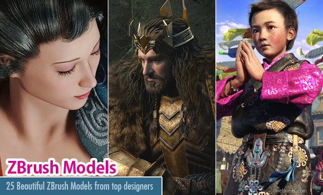 25 Beautiful ZBrush Models and Character Designs for your inspiration