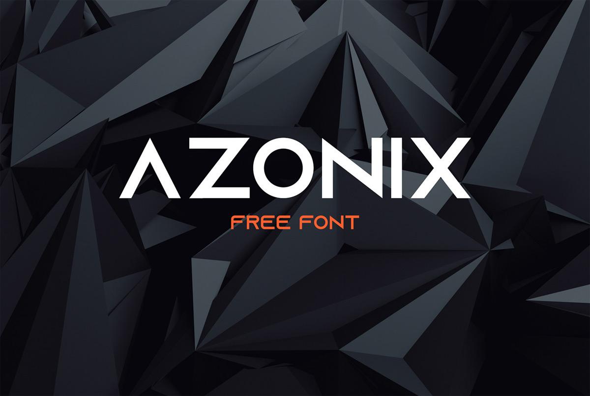 Download Free font   Azonix