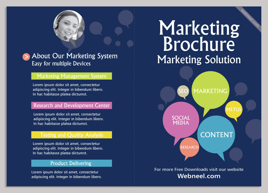 14 marketing brochure design template freedownload for Marketing brochure templates free