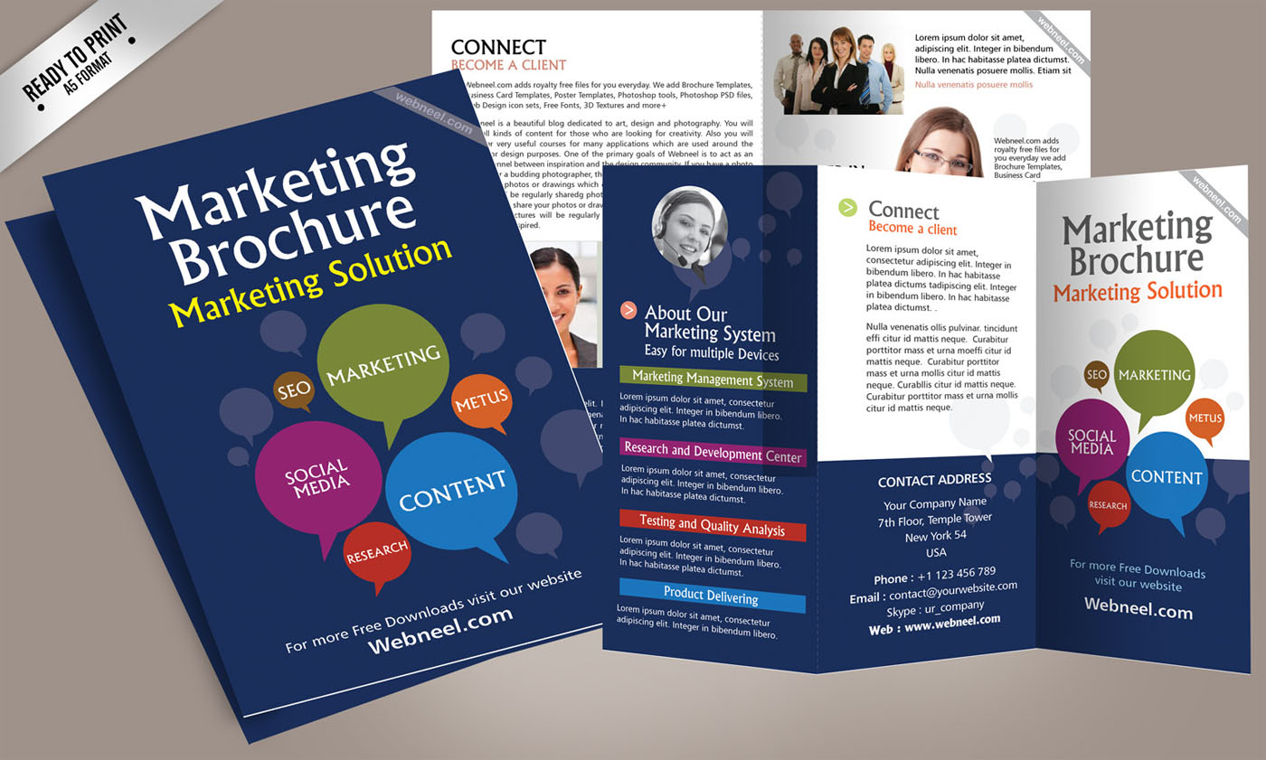 14 marketing brochure design template freedownload for Marketing brochures templates