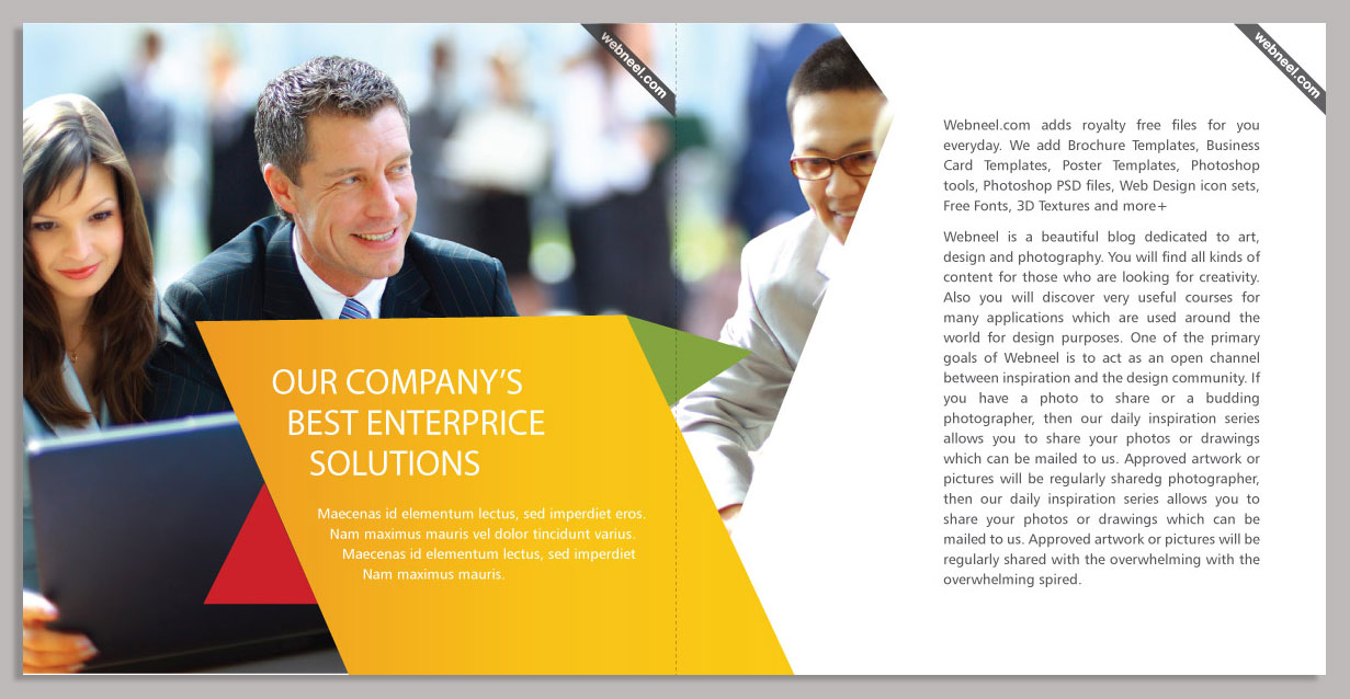17 Corporate Brochure Design Template Freedownload Printing