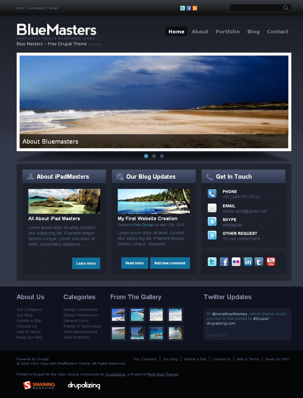 skifi drupal theme free download