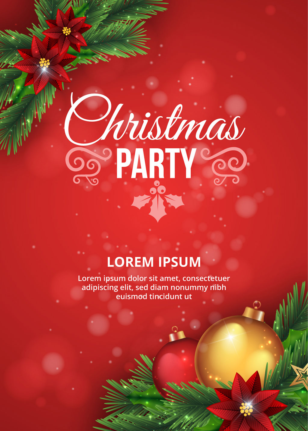 2 free christmas vector party poster