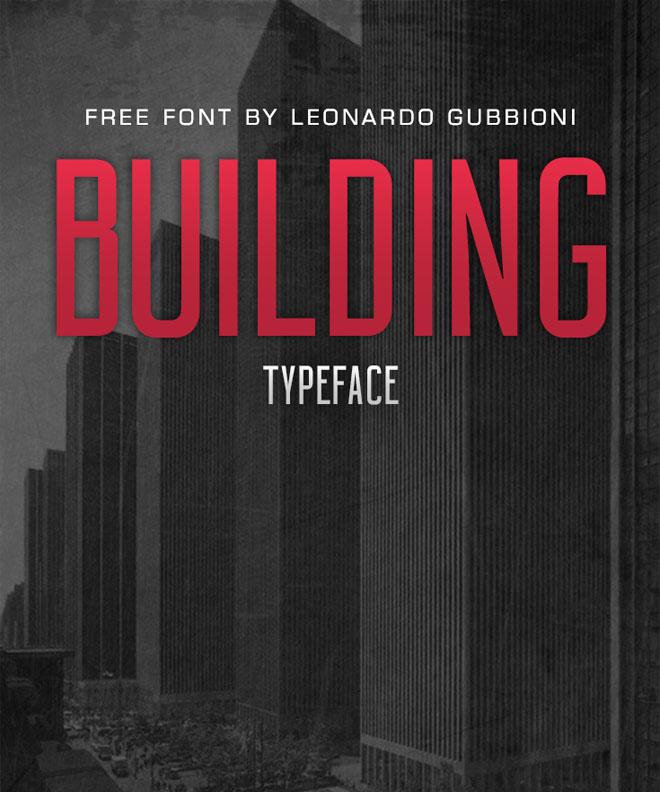 Modern Free Font   Building