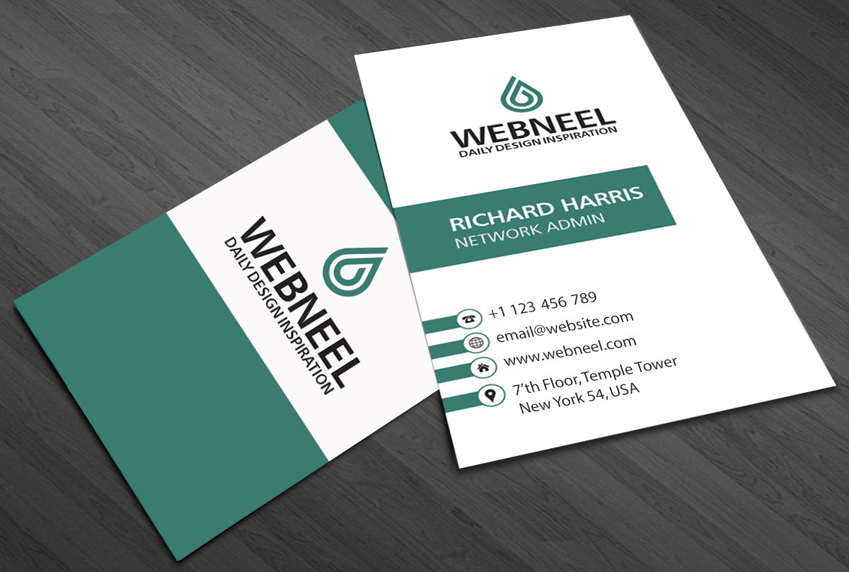 Simple business card template   Free Download