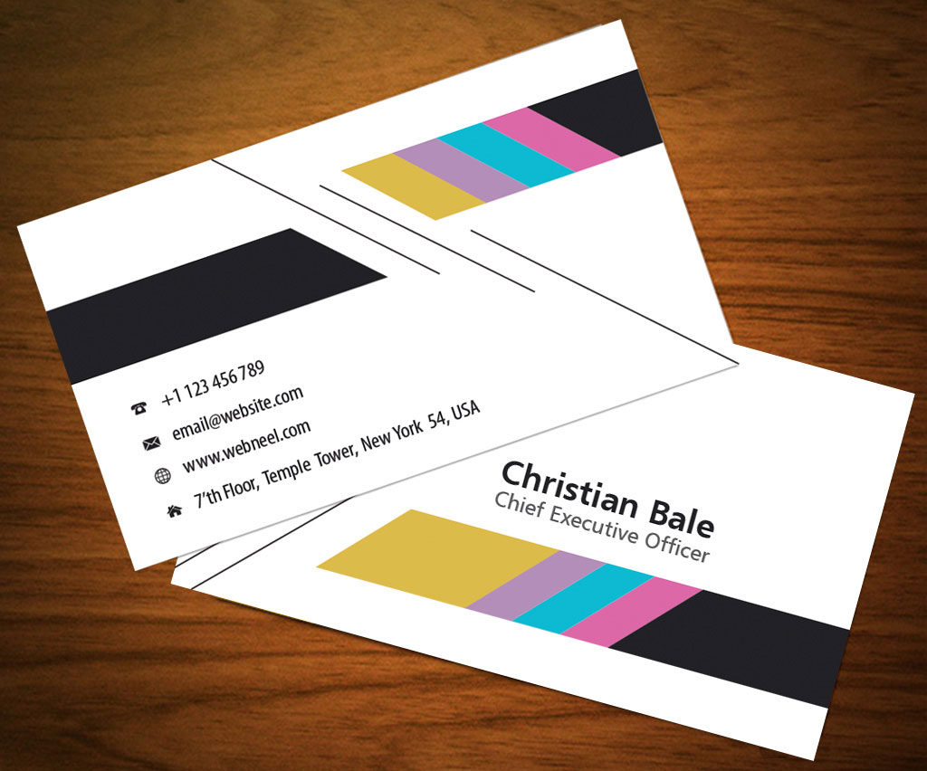 Colorful business card template   Free Download