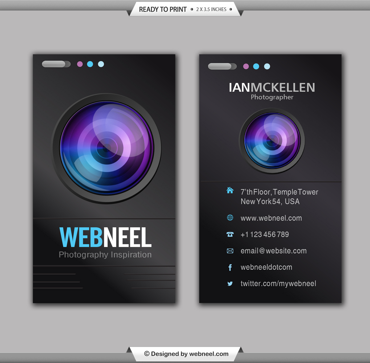 Photography business card design template 35 freedownload free photography business card design template format adobe illustrator version cs6 file size 5 mb color format cmyk cheaphphosting Gallery