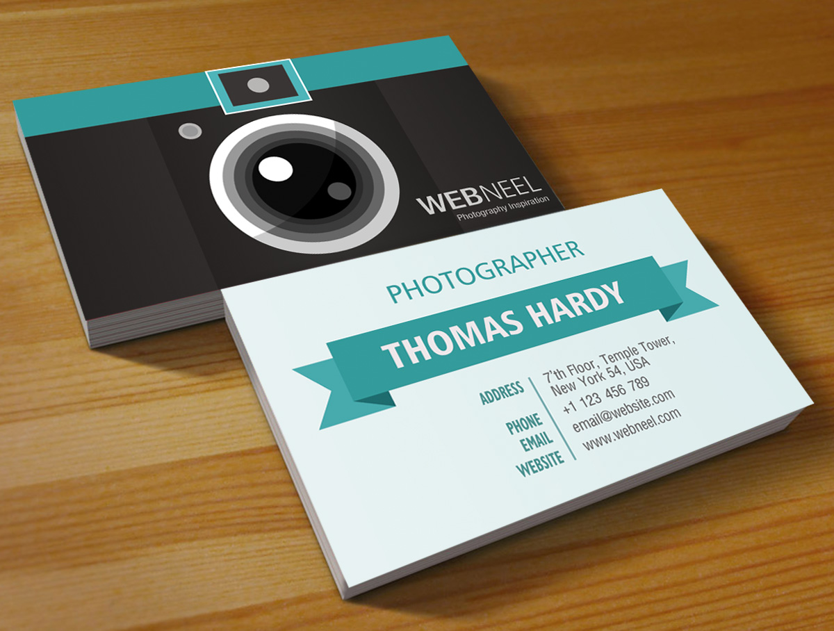 Photography Business Card Design Template Freedownload - Business card design template