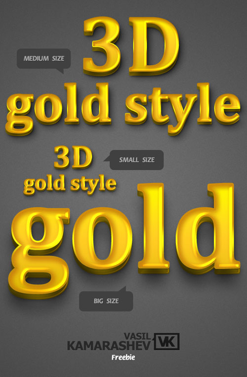 3D Gold Style