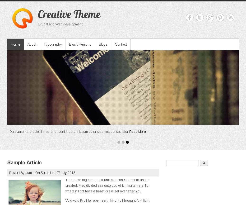 Creative Theme   Free Drupal Theme
