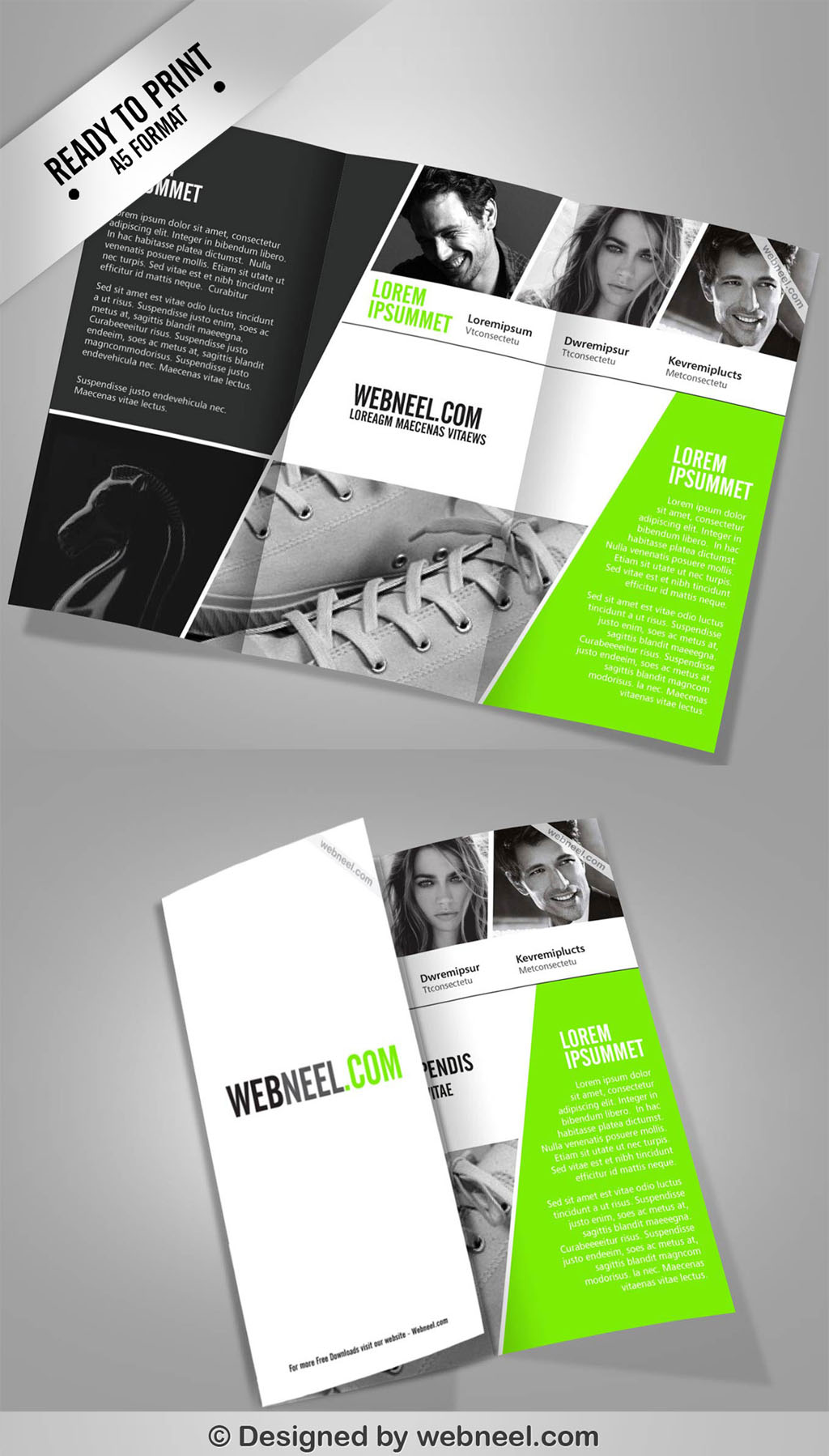 4 corporate ttrifold brochure template freedownload for 4 column brochure template