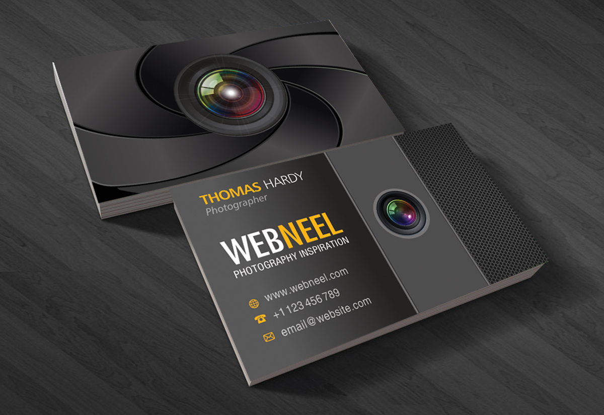 Photography Business Card Design Template Freedownload - Photography business card templates