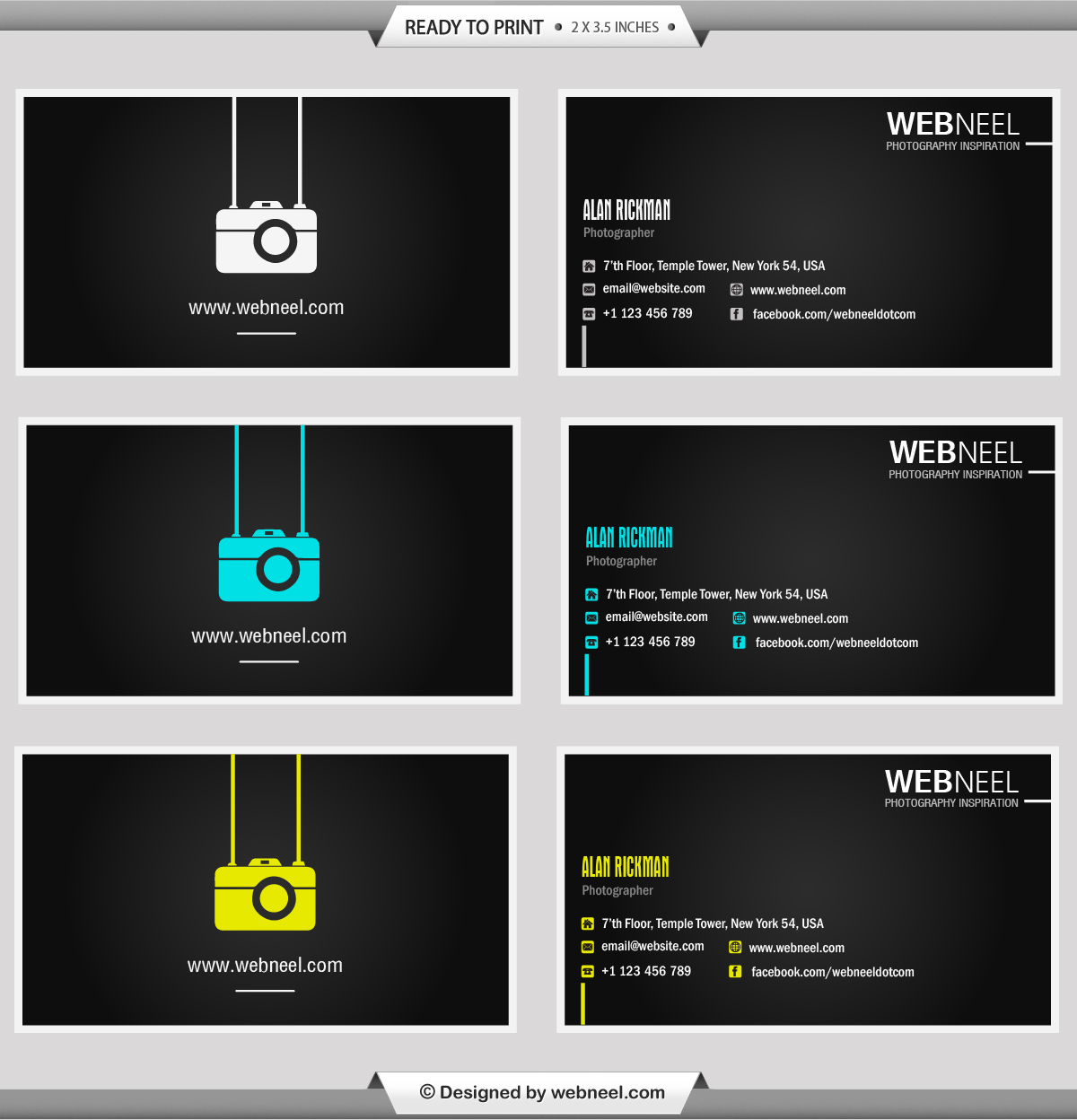Photography Business Card Design template 41 - Freedownload Printing ...
