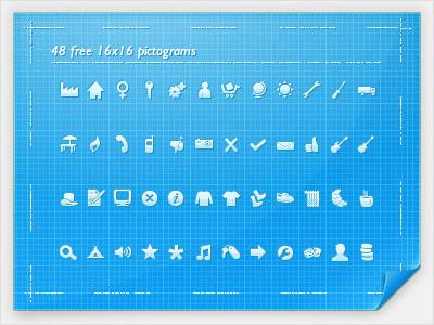 48 FREE 16x16 Pictograms Icons   AI File