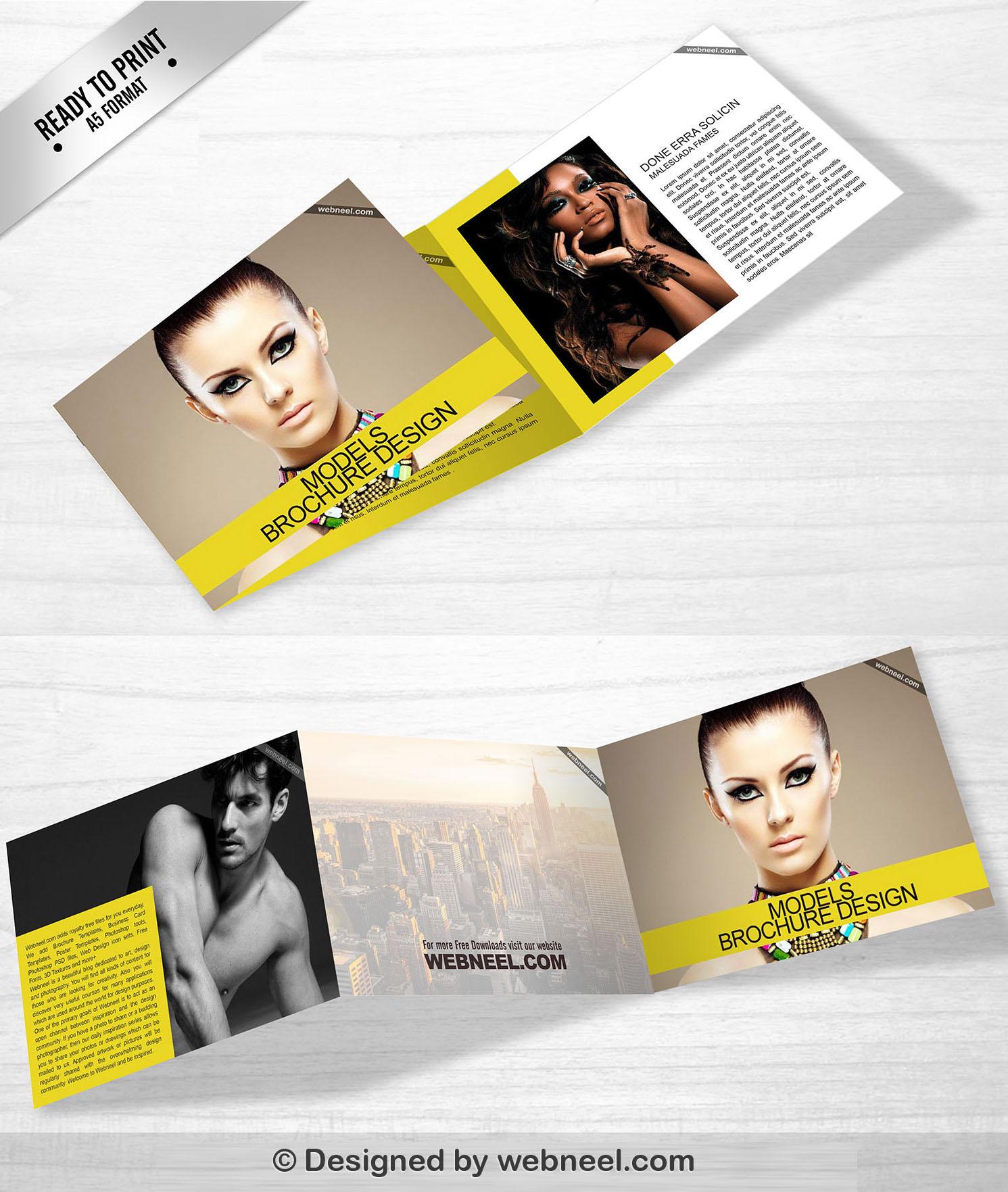 6 Landscape Trifold Brochure Template design