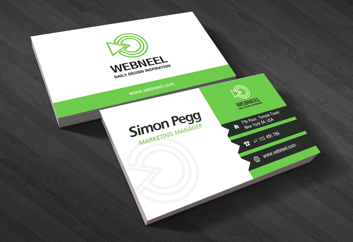 6 Simple business card template