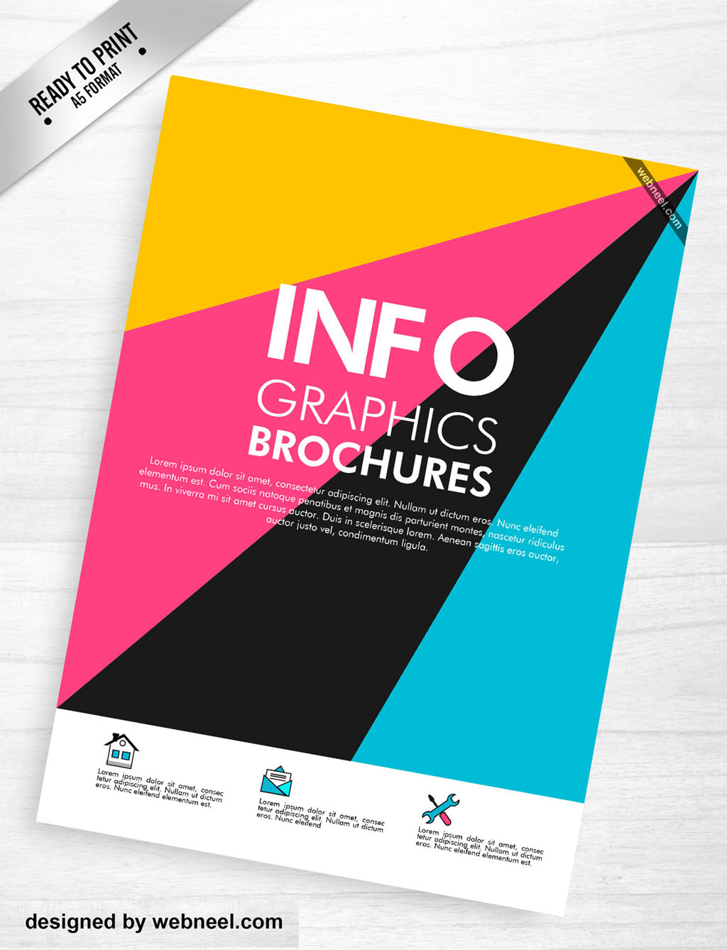 colorful brochure design - colorful corporate brochure template design 7