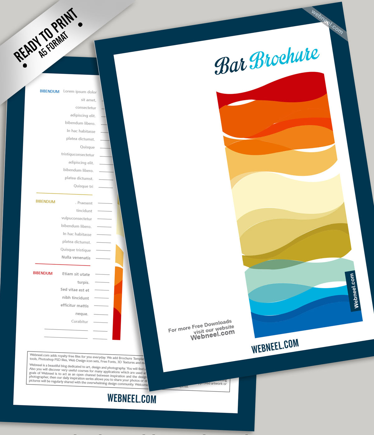 9 colorful a4 brochure design template freedownload for Colorful brochure templates