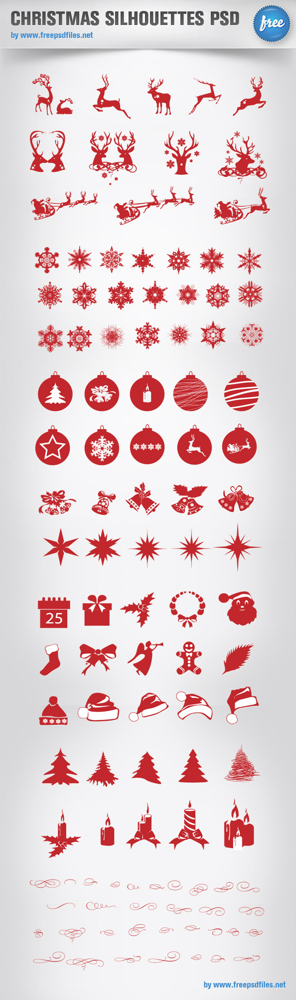 Christmas Silhouettes PSD