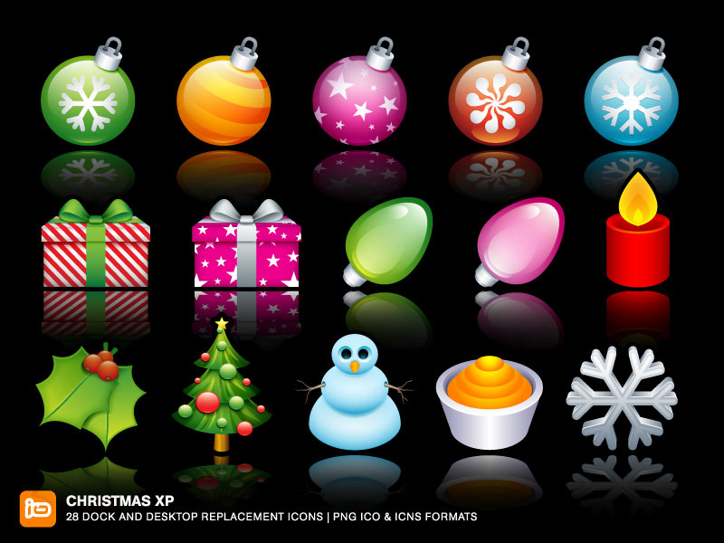 Christmas XP   Dock and Desktop replacement icons   PNG ICO ICNS