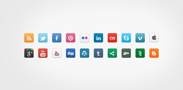 DC Social Icons   20 icons   PNG files