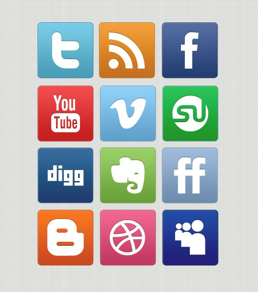 Free Social Media Icon Set   PNG