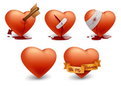 Valentines Day icons 1