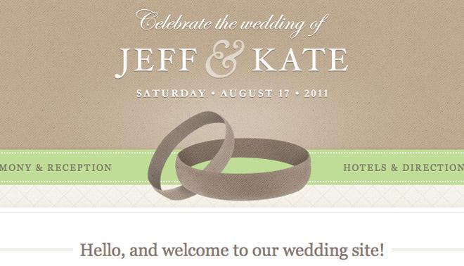 Wedding Site Template   PSD Html CSS