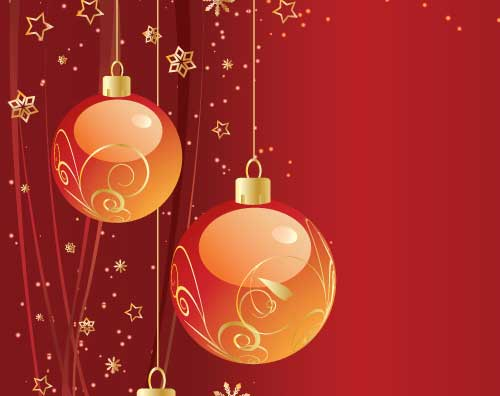 10 Free Vector Christmas Backgrounds