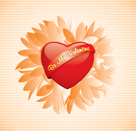 Be my Valentine button Vector Graphic