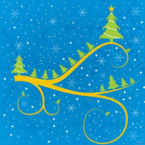 Christmas Card Vector EPS AI