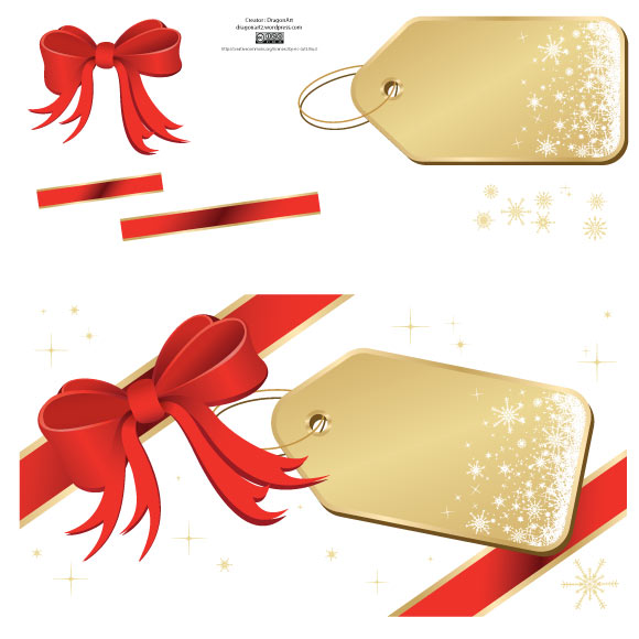 Christmas Vector Illustrations  - tag ribbon