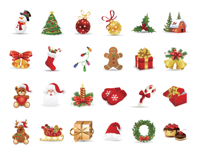 25 Beautiful Christmas Icons   PNG EPS
