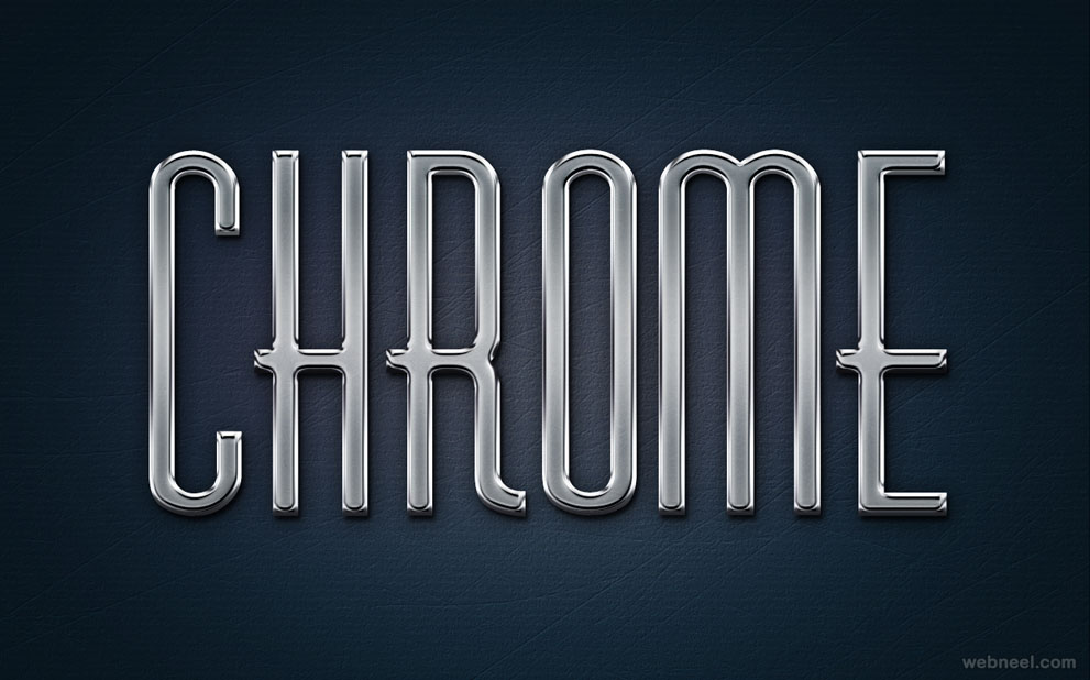 Chrome Metal Text Effect   Photoshop Styles