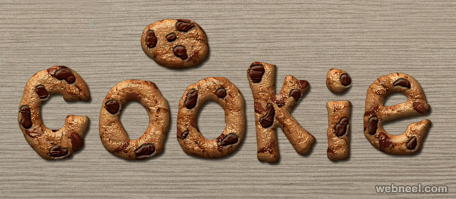 Cookie text effect photoshop layer style