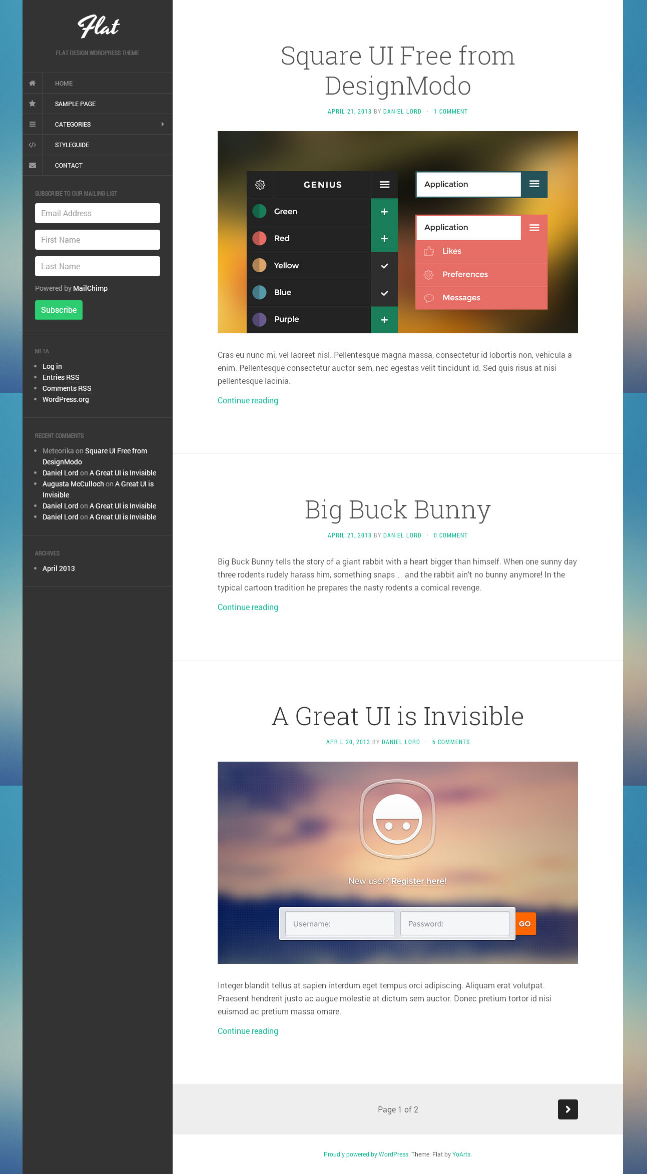 Flat   Free wordpress themes
