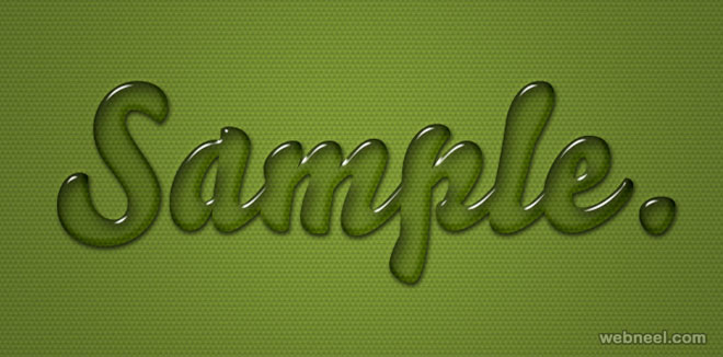 Gel Text Effects PhotoShop Layer Styles