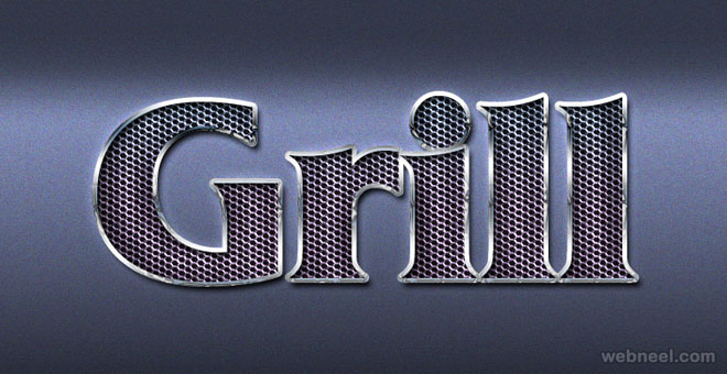 Grill metal photoshop layer style