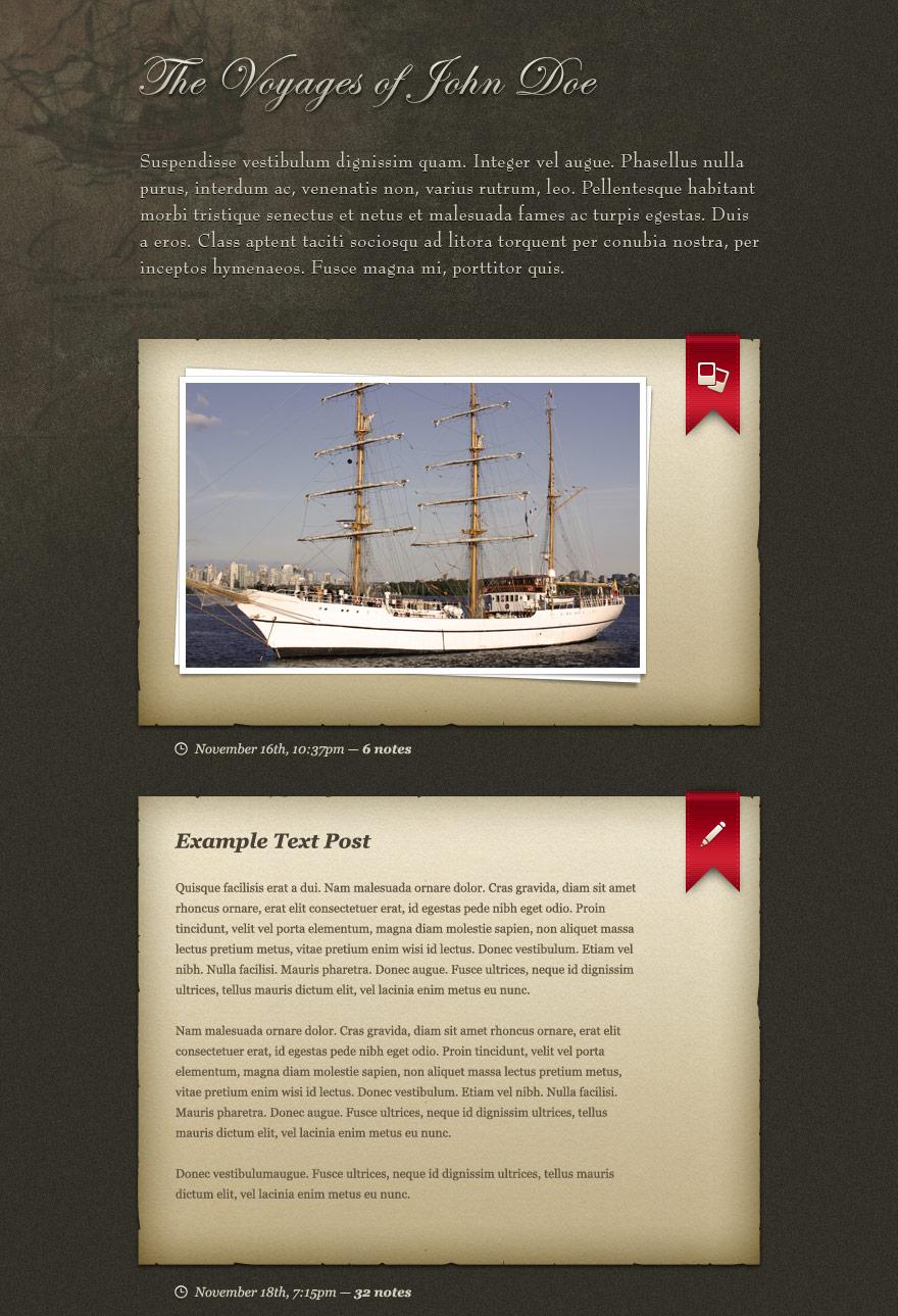 The Mariner blog UI PSD