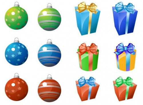 Christmas Ornaments and Gifts Icons