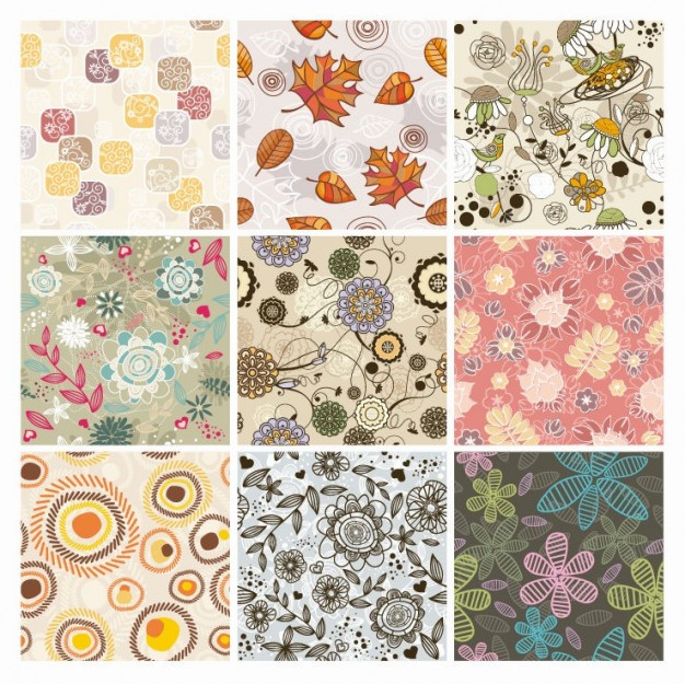 Floral Background Vector set