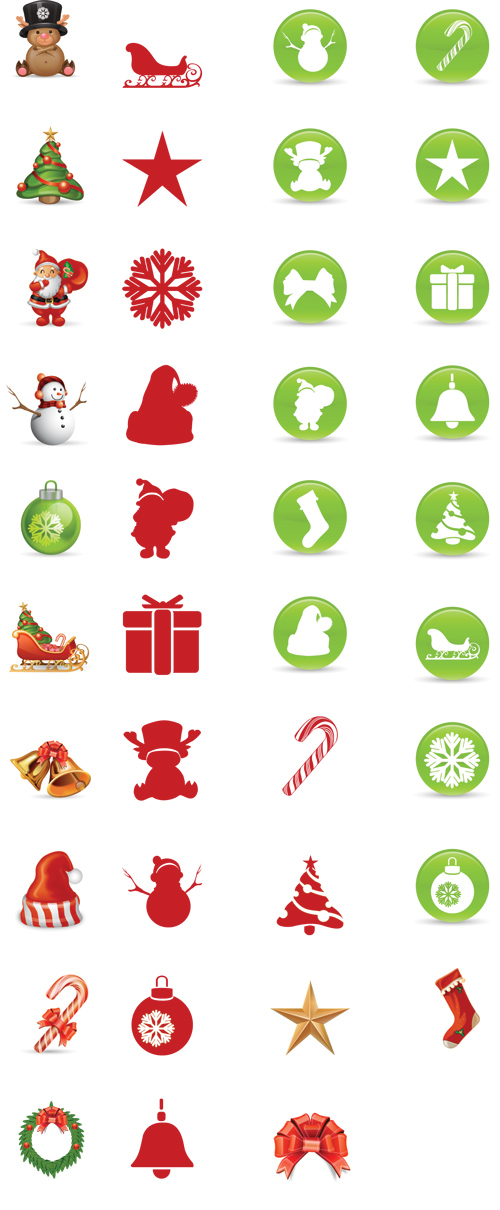 Beautiful Christmas Icon Set by SmashingMagazine